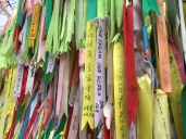 Ribbons of hope at Imjingak
